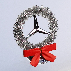 Classic Silver StarWreath kit on Mercedes hood