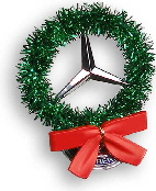 StarWreath Logo - Christmas Wreath for  Mercedes
